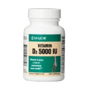 Vitamin D3 125mcg 5000IU by Major Pharmaceuticals
