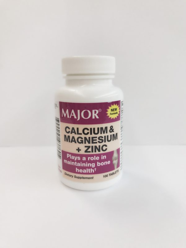 Calcium & Magnesium Zinc 100 Count By Major Pharmaceuticals
